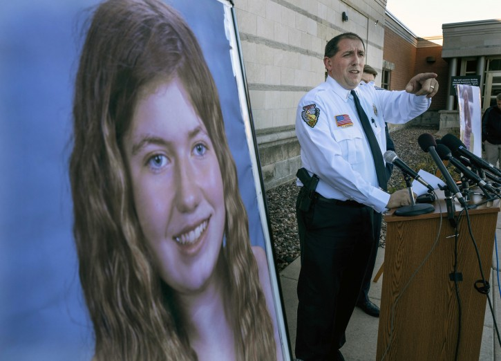 FILE - Barron County Sheriff Chris Fitzgerald speaks during a press conference about 13-year-old Jayme Closs who has been missing since her parents were found dead in their home Wednesday Oct. 17, 2018 in Barron, Wis. AP