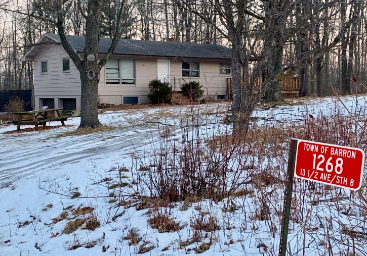 The home where teenager Jayme Closs lived with her parents is seen Friday, Jan. 11, 2019, in Barron, Wis. Closs, who went missing in October after her parents were found dead, was found alive Thursday afternoon, Jan. 10 in the small town of Gordon, Wis. (AP Photo/Jeff Baenen)