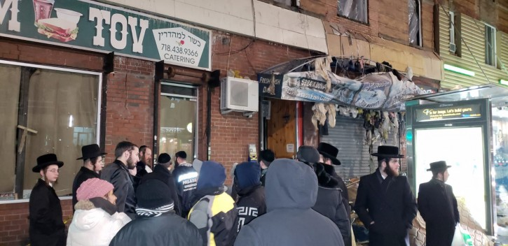 The building that housed Yossi's Fish Market following a fire on Jan. 12, 2019.