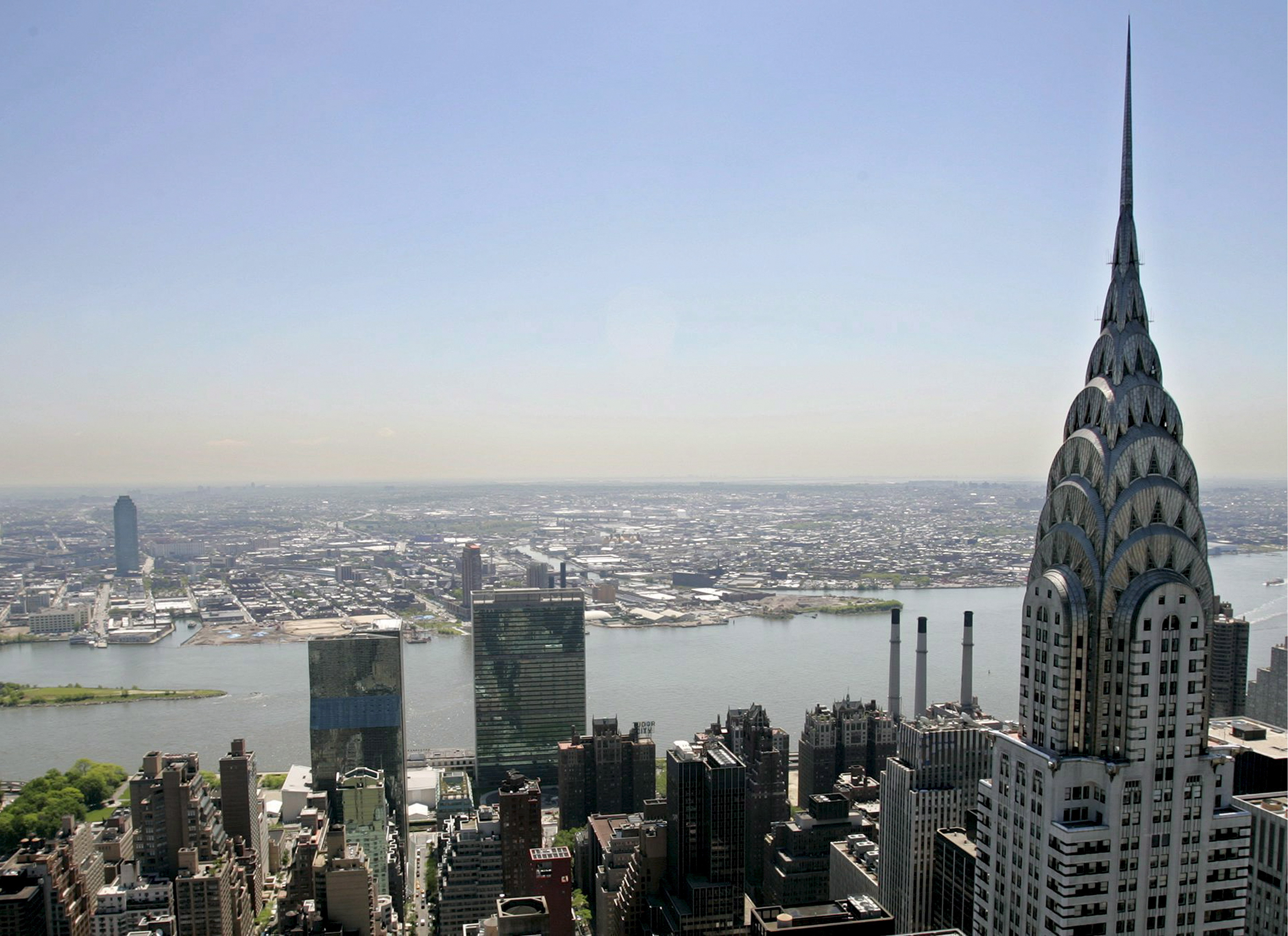 FILE - A file picture dated 27 May 2005 shows the spire of the Chrysler Building in New York, USA. EPA