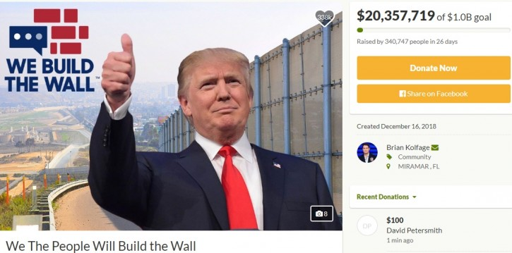 Fort Lauderdale, FL – $20 Million In Donations For Border Wall To Be Refunded Or Shifted To Non-profit Effort