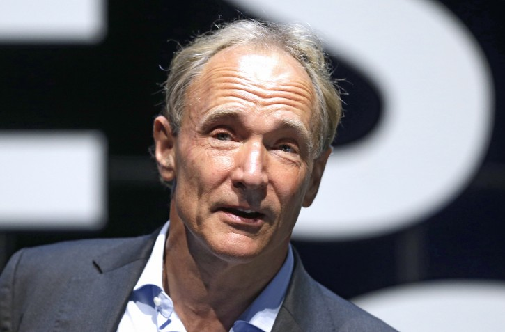 In this Tuesday, June 23, 2015 file photo, English computer scientist Tim Berners-Lee, best known as the inventor of the World Wide Web, attends the Cannes Lions 2015, International Advertising Festival in Cannes, southern France. Berners-Lee implemented the first successful communication between a Hypertext Transfer Protocol (HTTP) client and server via the Internet.(AP Photo/Lionel Cironneau, File)
