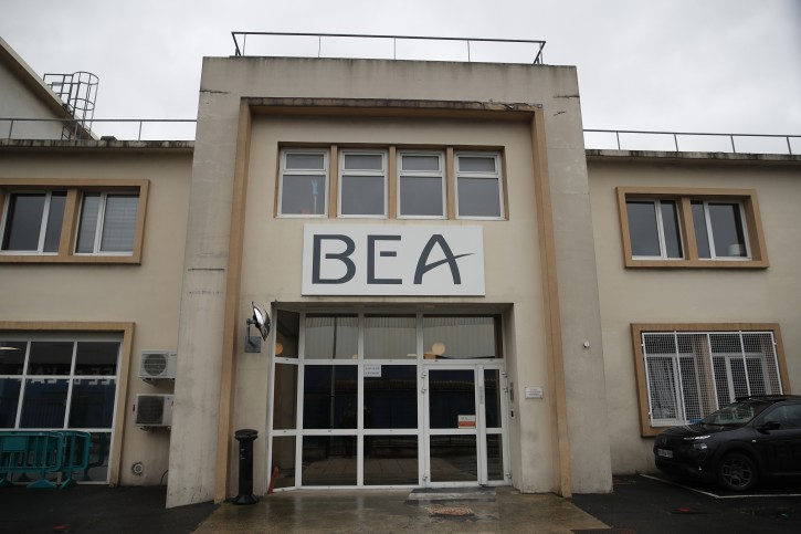 The headquarters of the BEA is pictured in Le Bourget, north of Paris, Thursday, March 14, 2019. The French air accident investigation authority, known by its French acronym BEA, is now handling the analysis of the so-called black box flight recorders from the Ethiopian Airlines jet that crashed earlier this week. (AP Photo/Christophe Ena)