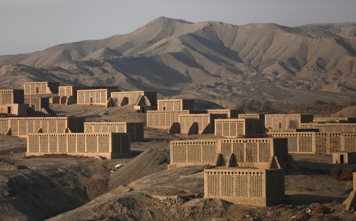 A view of clusters of 'chunche', an Uighur word for drying houses used to dry grapes into raisins by ethnic Uighur grape farmers in Turpan, Xinjiang Uighur Autonomous Province, China, 17 November 2017. EPA