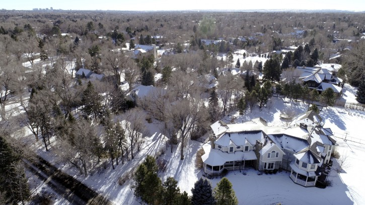 Snow covered Swastika Acres in Englewood. January 03, 2019. A handful of homes in Cherry Hills Village are part of a little-known sub-division called Swastika Acres. The name comes from an old Denver company, before the Nazis first used it. (Photo by Hyoung Chang/The Denver Post)
