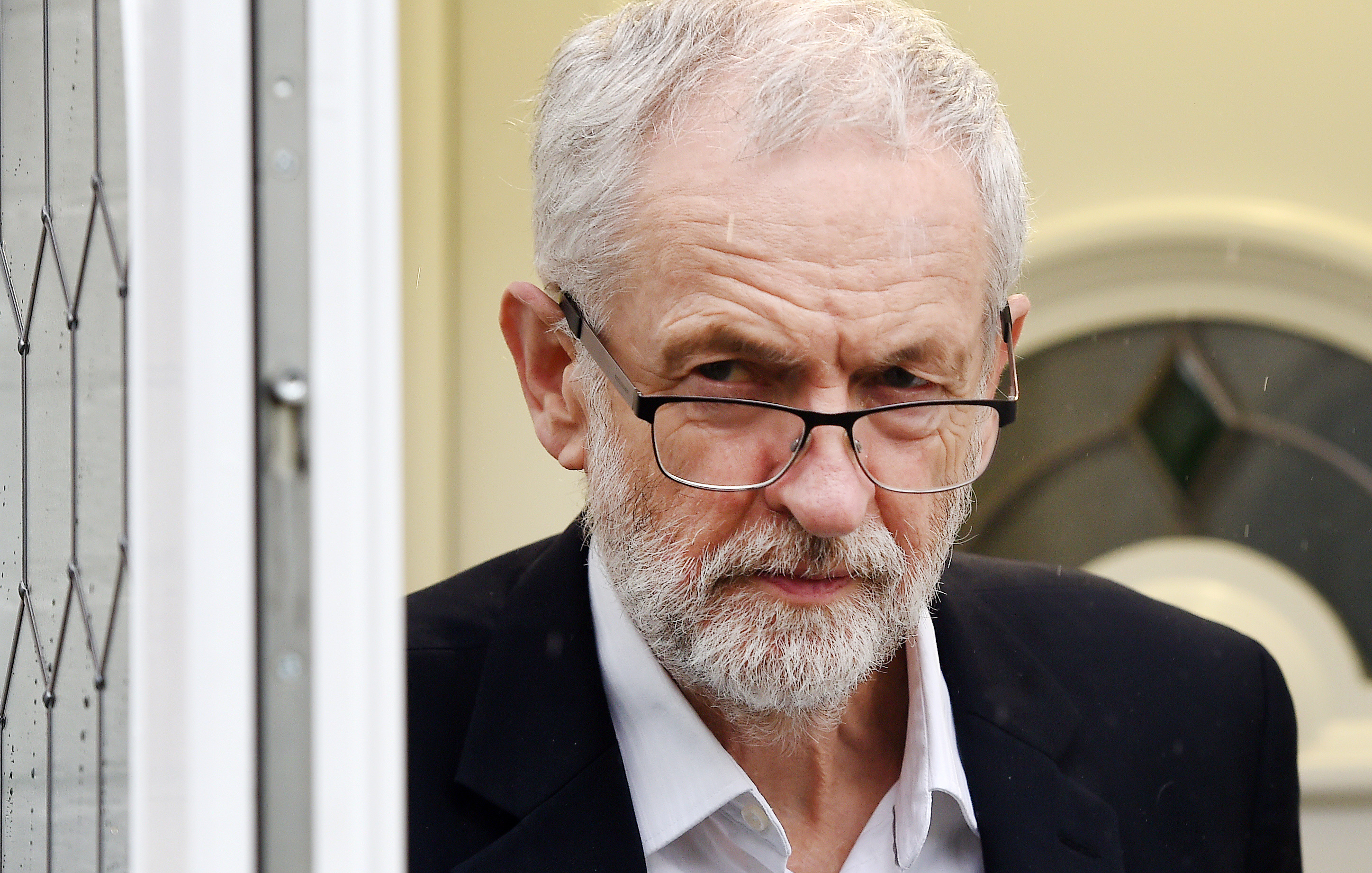 British Labour party opposition leader Jeremy Corbyn departs his home in London, Britain, 04 April 2019.