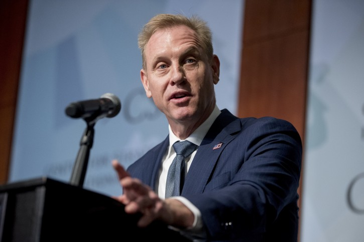 FILE - In this March 20, 2019 file photo, Acting Defense Secretary Patrick Shanahan speaks at the Center for Strategic and International Studies in Washington.(AP Photo/Andrew Harnik, File)