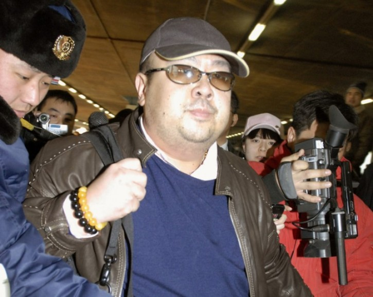 FILE PHOTO - Kim Jong Nam arrives at Beijing airport in Beijing, China, in this photo taken by Kyodo February 11, 2007. Mandatory credit Kyodo/via REUTERS