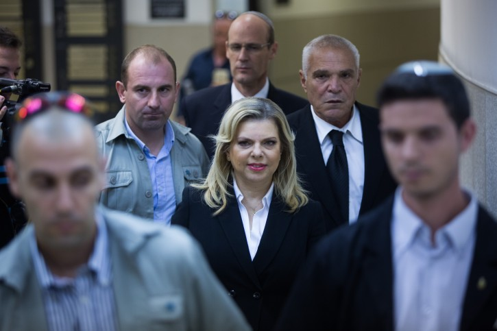 FILE - The wife of Prime Minister Benjamin Netanyahu, Sara Netanyahu arrives to testify at the regional Labor Court in Jerusalem on October 29, 2015. Photo by Yonatan Sindel/Flash90