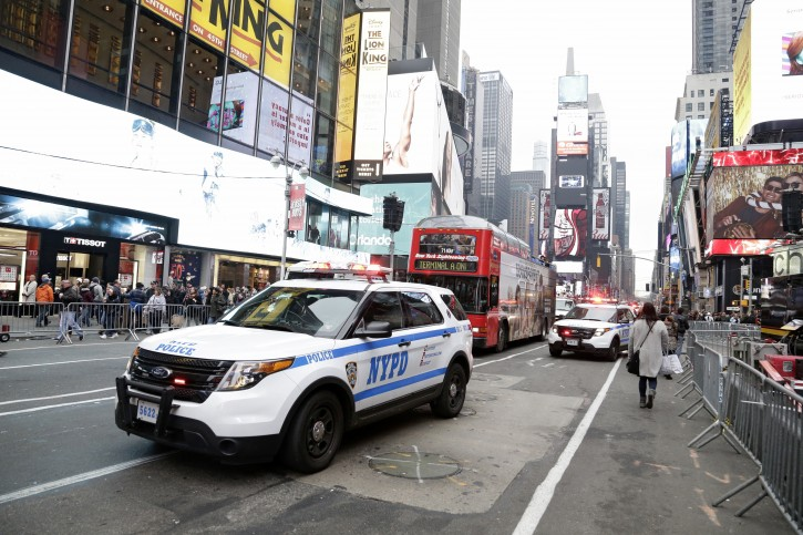 FILE - A New York City Police in Times Square in New York, New York, USA, 30 December 2015. EPA