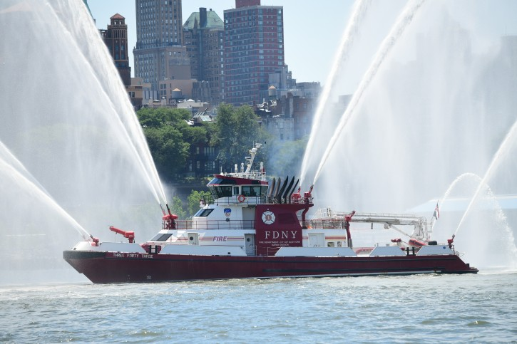 On July 1, 2019, FDNY hosted the 18th Blessing of its Marine Fleet at the South Street Seaport in Manhattan. (FDNY)