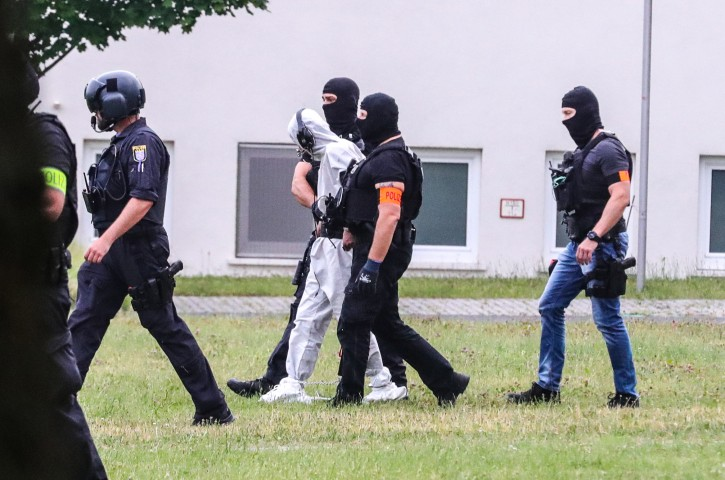 FILE -  Iraqi asylum seeker Ali Bashar (C), who is considered a suspect in the rape and murder case of 14-year-old girl Susanna Maria Feldman, is transported to a prison in Frankfurt am Main, Germany, 10 June 2018. EPA