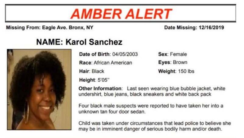 16 Year Old Karol Sanchez Confesses To Staging Kidnapping That Prompted Amber Alert Vos Iz Neias