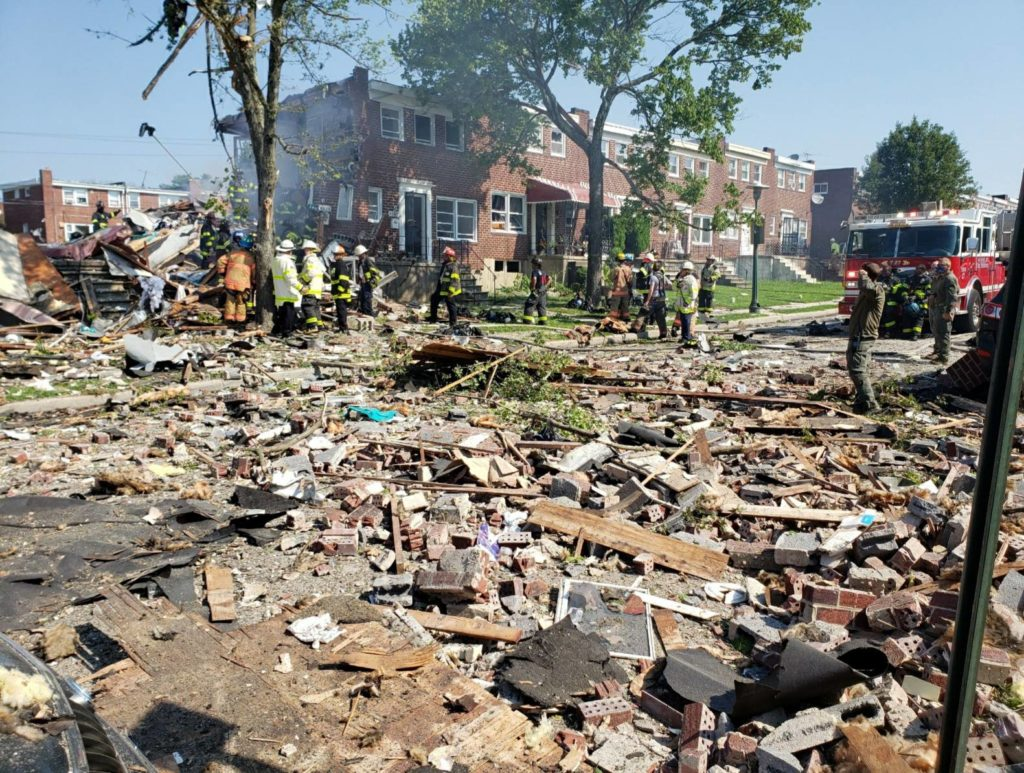 Explosion Levels Baltimore Homes; 1 Dead, 1 Trapped 3