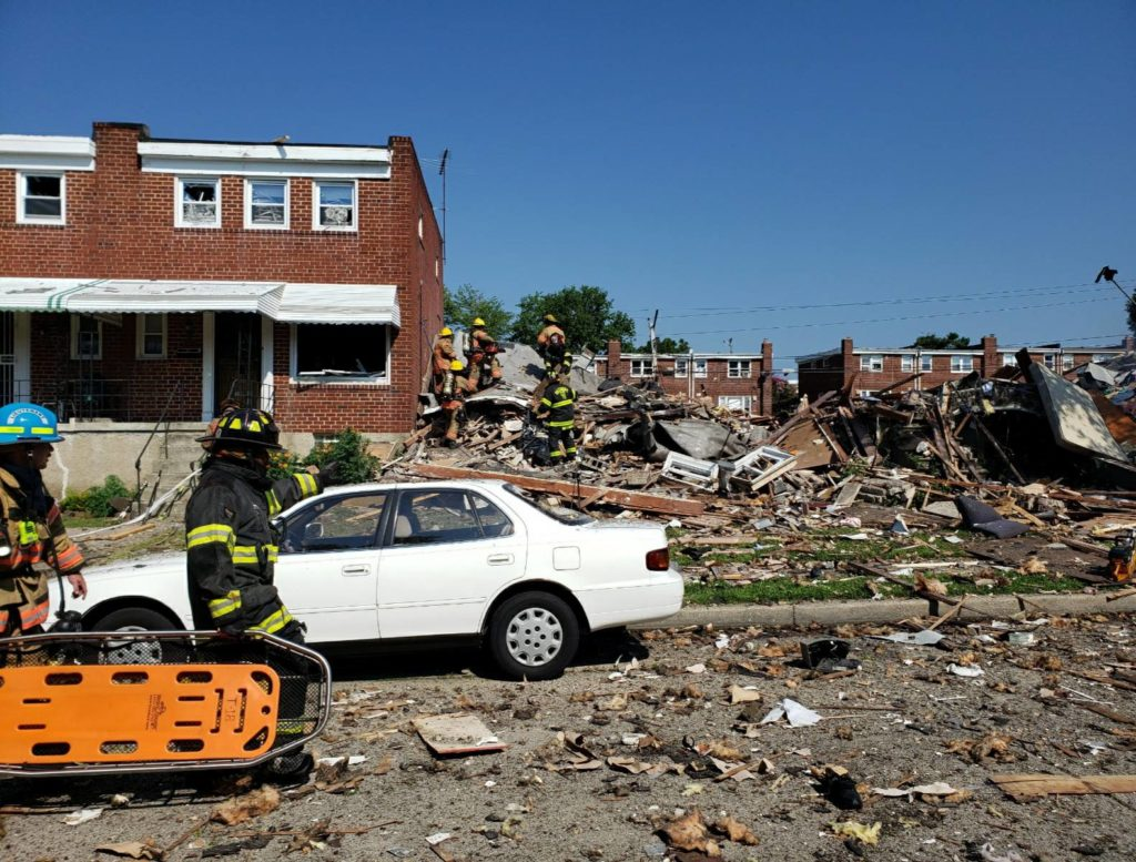 Explosion Levels Baltimore Homes; 1 Dead, 1 Trapped 2