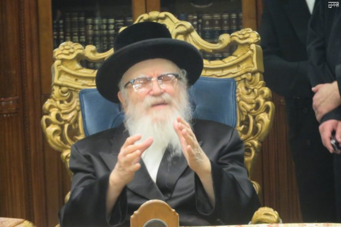 The Skverer Rebbe and the Window in Woodmere 1