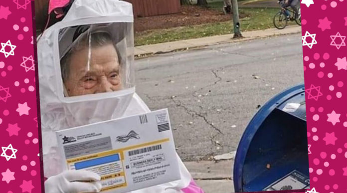 This 102-year-old Jewish Grandma Is Going Viral For Mailing Her Absentee Ballot In A Hazmat Suit 1